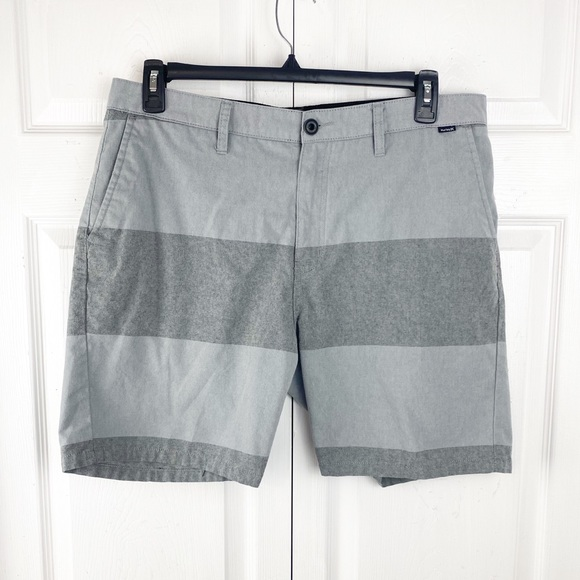 Hurley Grey Wide Stripe Shorts